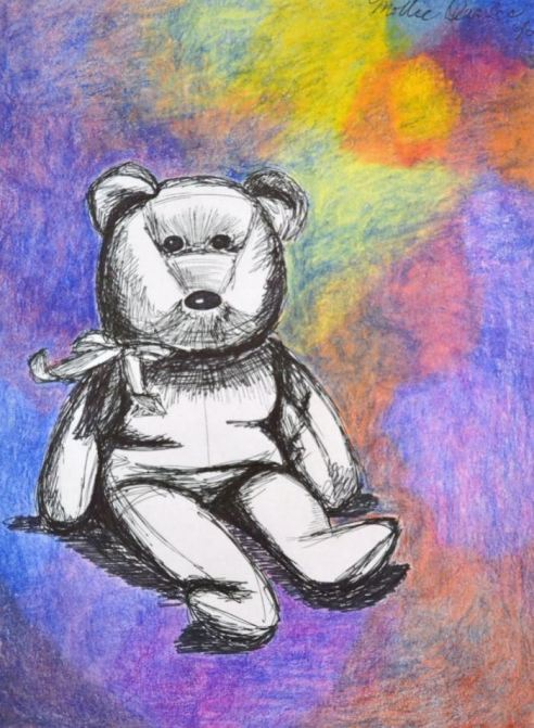 Child's Bear, Ink and prisma Purchase at: etsy.com/listing/259625656/childs-bear?ref=shop_home_active_1