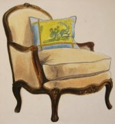 Arm Chair, prisma on vellum