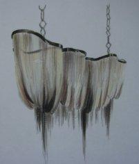 Hanging Dragon, prisma on vellum