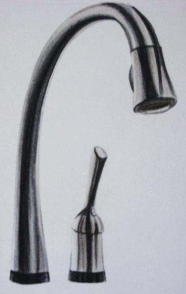 Kitchen Faucet, prisma on vellum