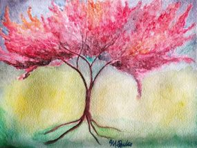 Cherry Tree, watercolor- Puchase at:https://www.etsy.com/listing/259525231/cherry-tree?ref=shop_home_active_3